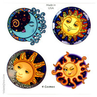 Four Cosmos 2-Sided  Bumper Sticker Pack on Sale for $3.99 at HippieShop.com