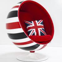 www.roomservicestore.com - Custom Painted Union Jack Ball Chair
