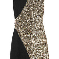 Rachel Gilbert: Dexina sequined silk-chiffon mini dress