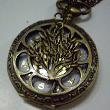 vintage big size Retro hollow style Pocket watch by qizhouhuang