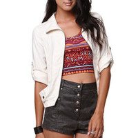 LA Hearts Light Weight Twill Zip Up Jacket at PacSun.com