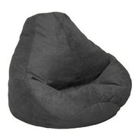 Soft Suede Luxe Bean Bag Adult, Onyx