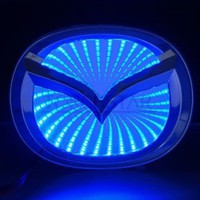 3D BLUE LED Mazda M6 Logo Badge Light Car Trunk Emblem Sticker Lamp