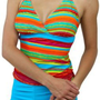 Multicolor Tankini Top Boyshort Swimsuit Bathing