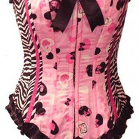 Zebra Hello Kitty Corset | kawaiiparlor - Clothing on ArtFire