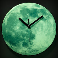 Glowing Moon Clock | Kikkerland Clair De Lune Moonlight Clock | fredflare.com