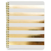 Sugar Paper Gold Cabana Stripe Notebook | Waiting On Martha