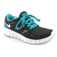 Nike Women's Free Fun +2 Running Shoes-Black/Turquoise-5.5