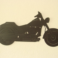 Motorcycle 16 Gauge Plasma Cut Metal Wall Art