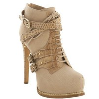 Christian Dior dune leather 'Guetre' croc print ankle booties