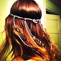 CUSTOM Native Headband with Feathers by MoondialGypsy on Etsy