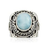 Ross-Simons - Larimar Ring In Sterling Silver