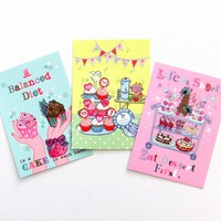Pack Of 3 A6 Postcard Prints 'Balanced Diet' 'Go On' 'Eat Dessert First