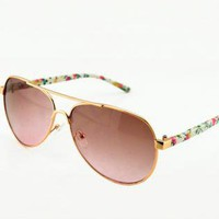 Flora Print Leg Sunglasses for Women-j TYI003