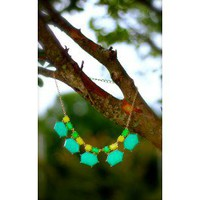 Candy Crushed Necklace-Lime