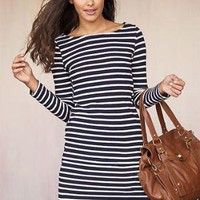 Alloy > Mackenzie Striped Knit Dress > dresses > print & pattern