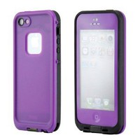 GEARONIC Waterproof Shockproof Full Body Skin Case Cover Pouch for iPhone 5, Multi Purpose Protective Skin for water, shock, snow, dirt - Purple