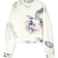 Flower Print Cropped Sweatshirt by Acne