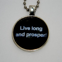 Live Long And Prosper Necklace. Star Trek Spock Inspired. 18 Inch Chain.