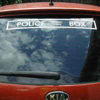 Doctor who decal car police public call box vinyl decal vehicle sticker 24 inches