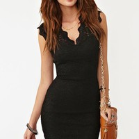 Lara Lace Dress - Black in What's New at Nasty Gal
