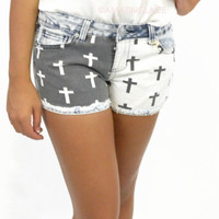 Buckhead Denim Print Cross Shorts