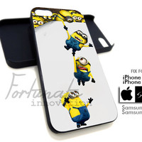 Minion Despicable Me Funny - iPhone 4/4s / 5 Case - Samsung Galaxy S3 / S4 - Black or White
