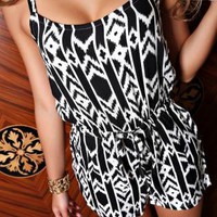 Geometric Pattern Cami Jumpsuit