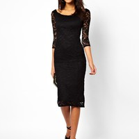 ASOS Bardot Lace Midi Dress
