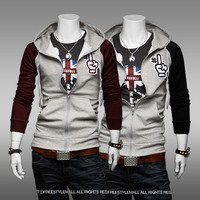 Assassins Creed 3 III DESMOND MILES Designed Mens Slim Fit Casual Pocket Hoodie