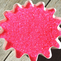 Hot Pink Sanding Sugar for Cupcakes by thebakersconfections