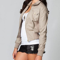 FULL TILT Washed Canvas Womens Jacket