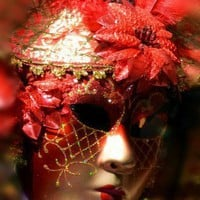 Red Venetian Mask signed original photographic print | BonnieFoxPhotography - Photography on ArtFire