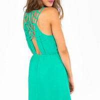 Class in Lattice Dress $46