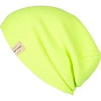 Yellow fluro knitted beanie hat