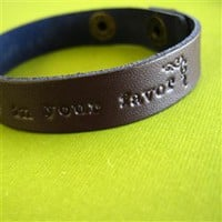 Ever in Your Favor Leather Cuff Bracelet - Spiffing Jewelry