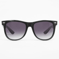 'Dakota' X-Large Gradient Lens Wayfarer Sunglasses - Black #1978-15