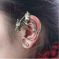 Single Punk Style Dragon Shape Odd a Earring