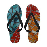 Red or Aqua Sandal Sandals from Zazzle.com