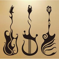 Instruments PVC Wall Decal Sticker (Black)
