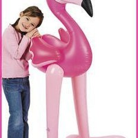 5' GIANT Inflatable PINK FLAMINGO/LUAU PARTY Tropical Decoration