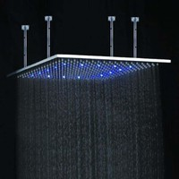 20 inch Stainless Steel Shower Head with Color Changing LED Light:Amazon:Patio, Lawn & Garden