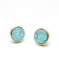 Drusy Dot Stud Earrings | LEIF