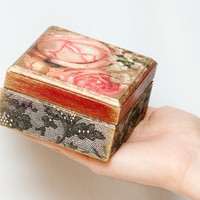 Decorated Jewelry Box Decoupaged Art box Wooden by BeauMiracle