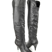 Over The Knee Leatherette Boots | FOREVER21 - 2000038831
