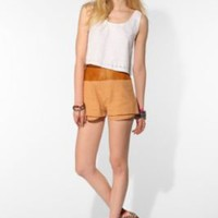 UrbanOutfitters.com > Shakuhachi Linen Block Party High-Waisted Short