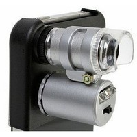 For Apple iPhone 4 60x Magnify Microscope with LED Light