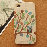 Cute Owl Fabric Phone Case For iPhone 5
