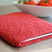 iPad sleeve cover or case CORAL pink orange by theLOVEstitch