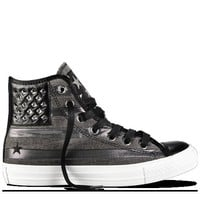 Black Chuck Taylor Studded Flag Shoes : Leather Converse | Converse.com